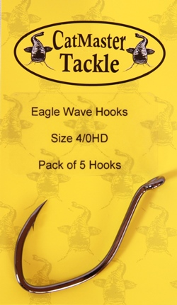 CatMaster Tackle Eagle wave Hooks Heavy Duty 4/0 (pack of 5 hooks)
