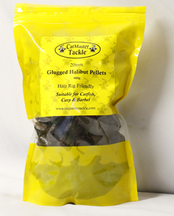 CatMaster Tackle Hair Rig Friendly 20mm Glugged Halibut Pellets 900gm Re-Sealable Pouch